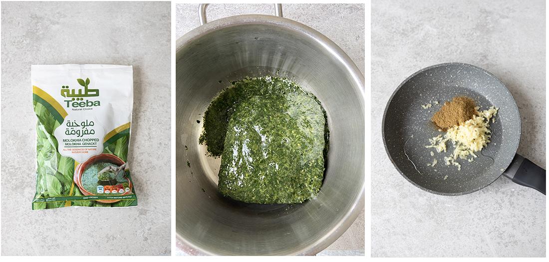heat the oil over medium heat, then add the minced garlic