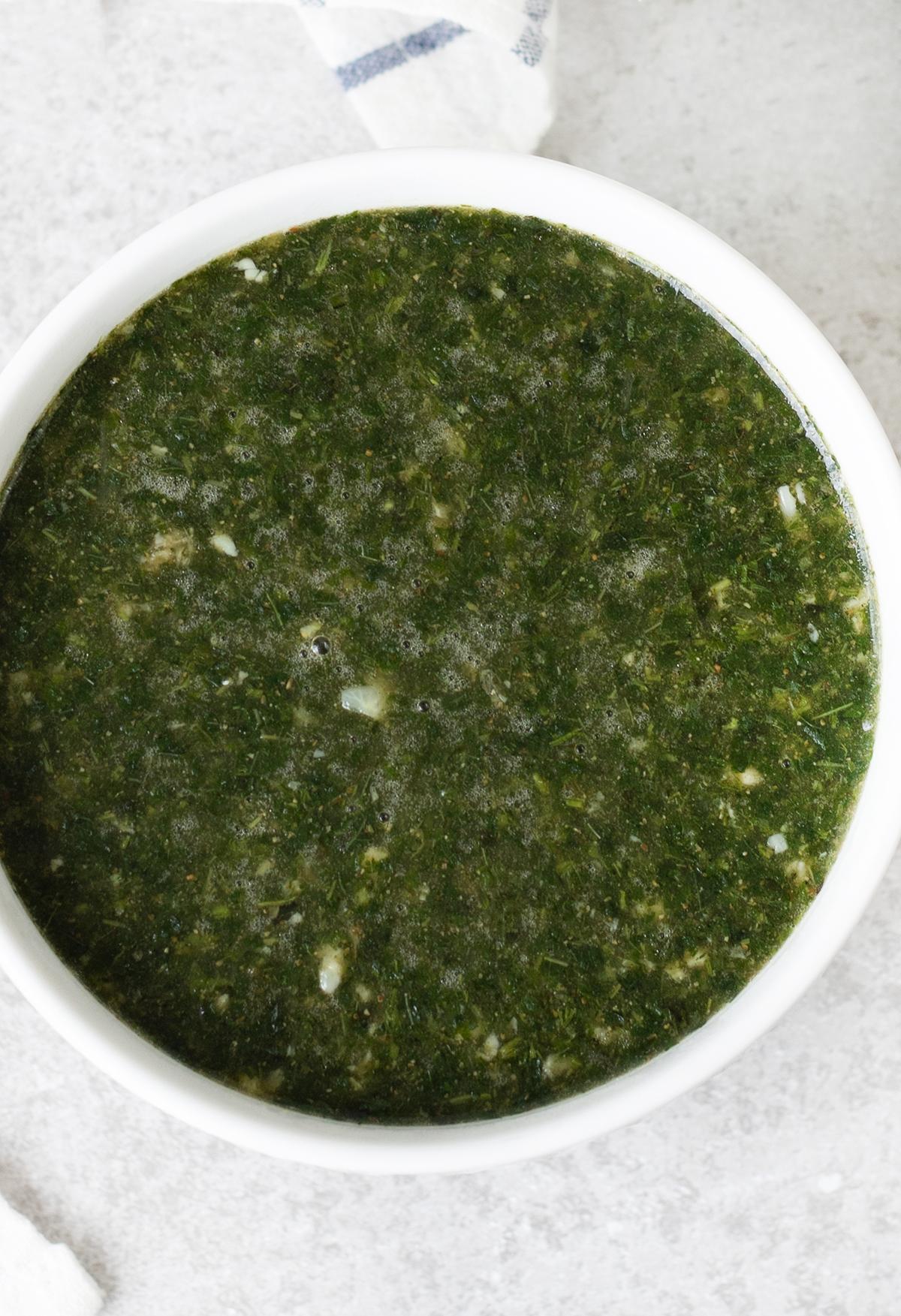 big bowl of Molokhia