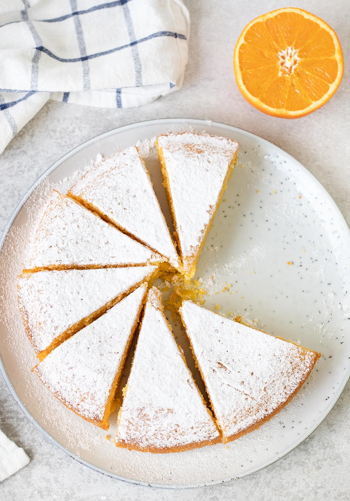 Polenta Cake is a simple Italian-style cake