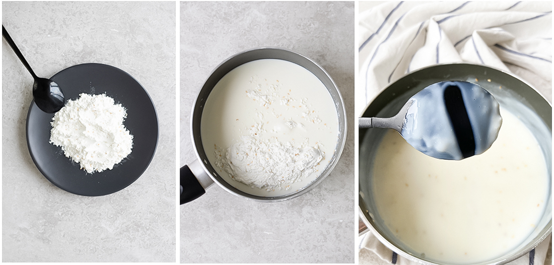 In a saucepan, mix powdered Sahlab with milk and sugar