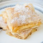 Bougatsa is a Greek Filo custard pie