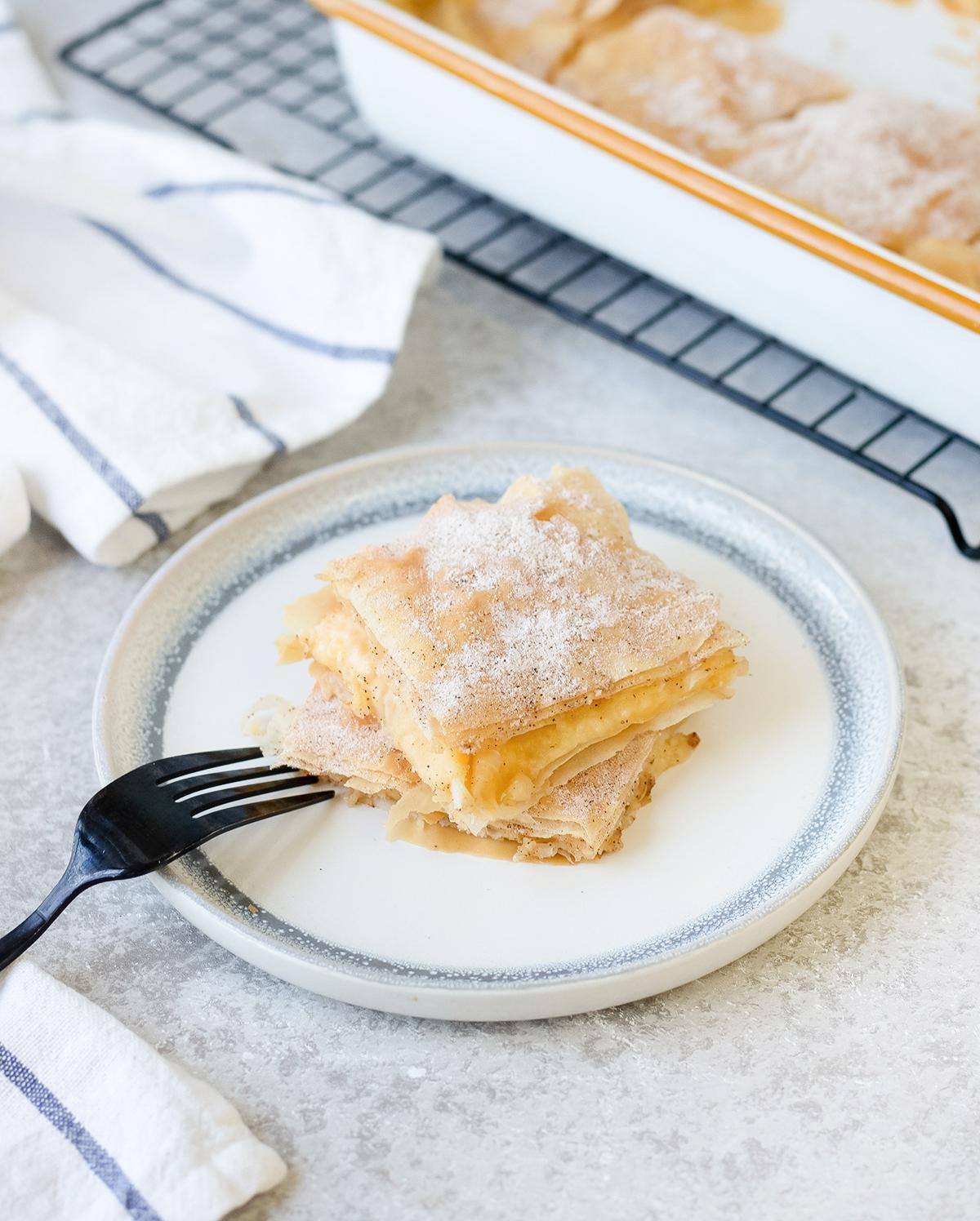 Bougatsa or custard pie