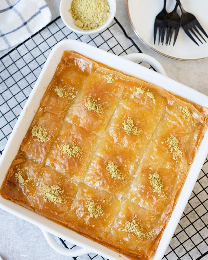 Greek Custard Pie With Syrup (Galaktoboureko)