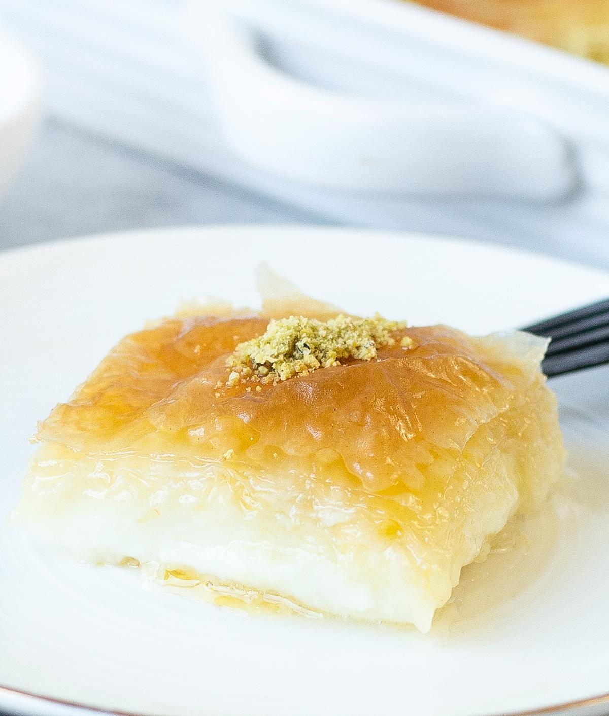 Greek Custard Pie With Syrup or Galaktoboureko