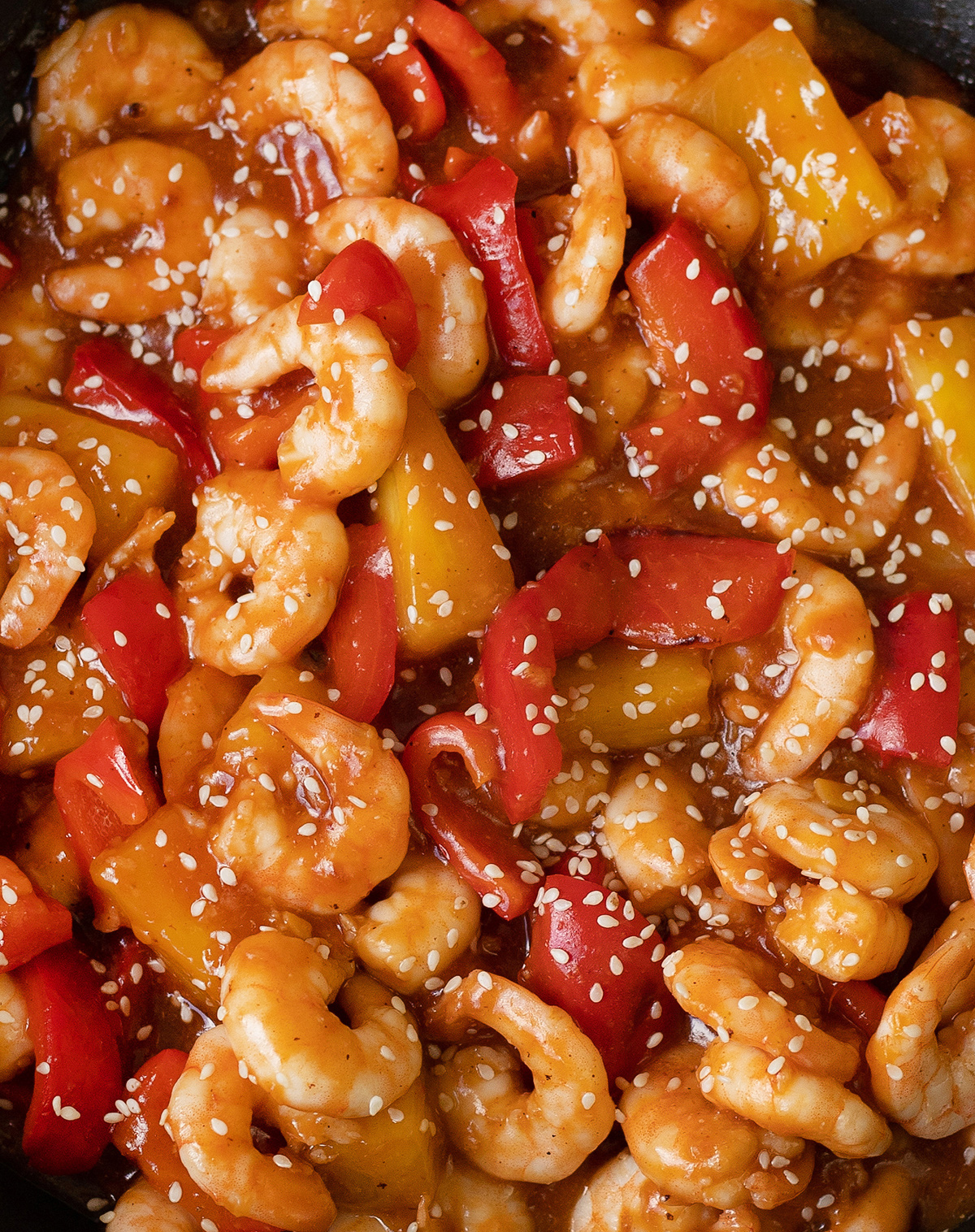 Sweet and Sour Shrimp is a quick stir-fried Chinese meal