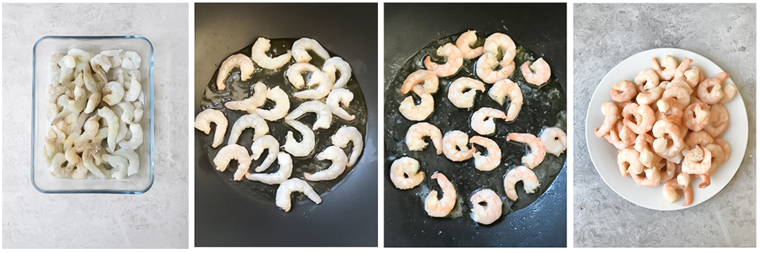 Cooking the shrimps