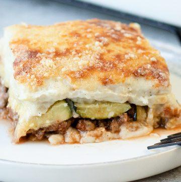 baked Zucchini Bechamel Casserole