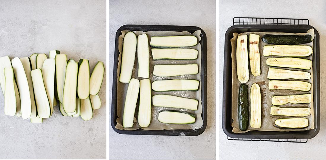 Roasting the zucchini