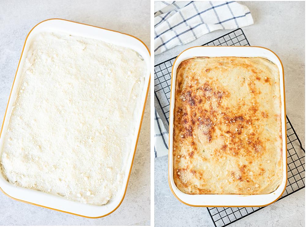 Bake the casserole