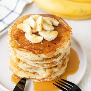 Banana Sour Milk Pancakes