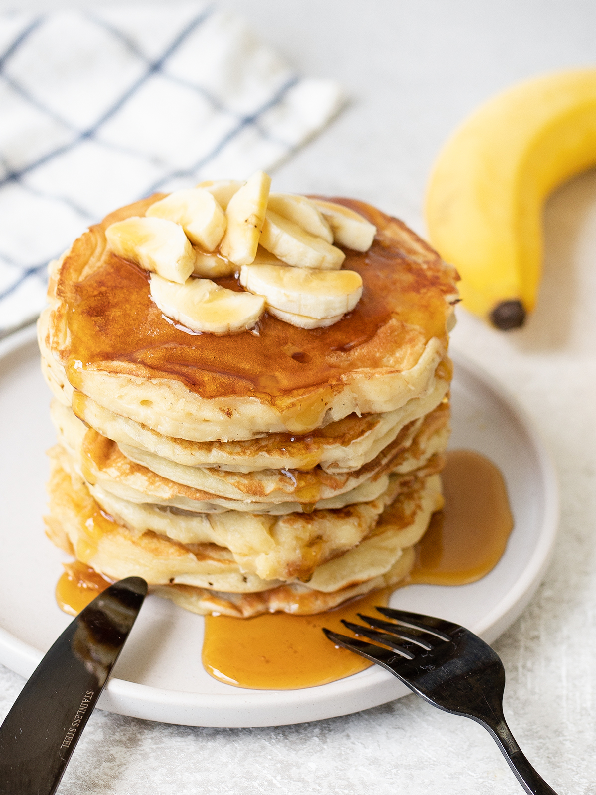 Banana Pancakes and a fork