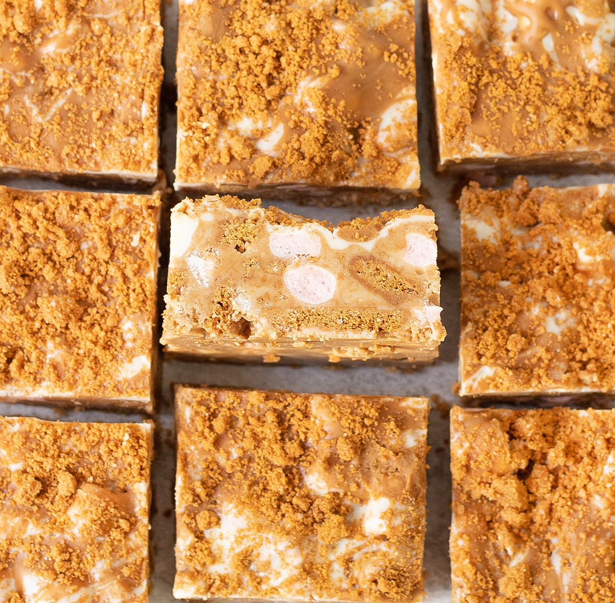 Biscoff Rocky Road is a delicious, easy, and no-bake dessert.