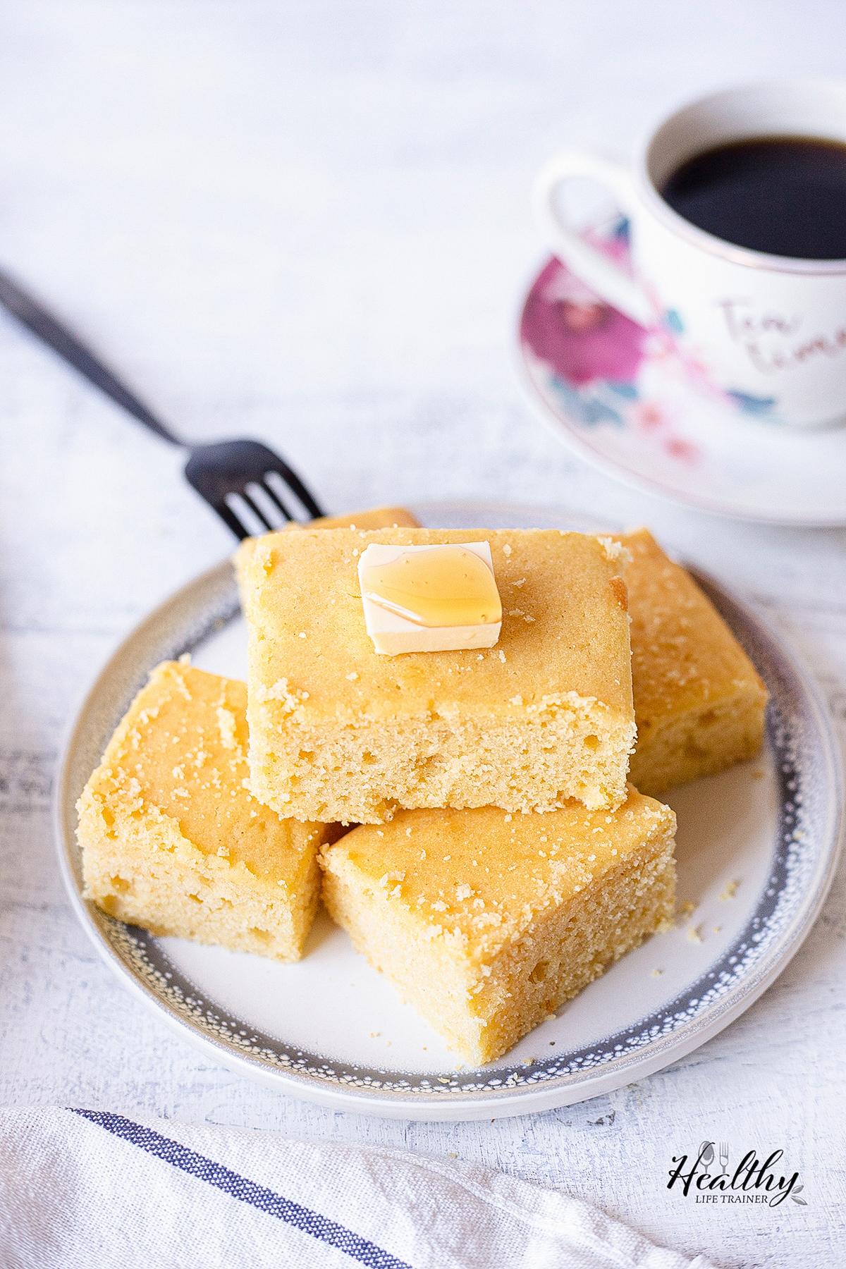 cornbread, honey and butter.