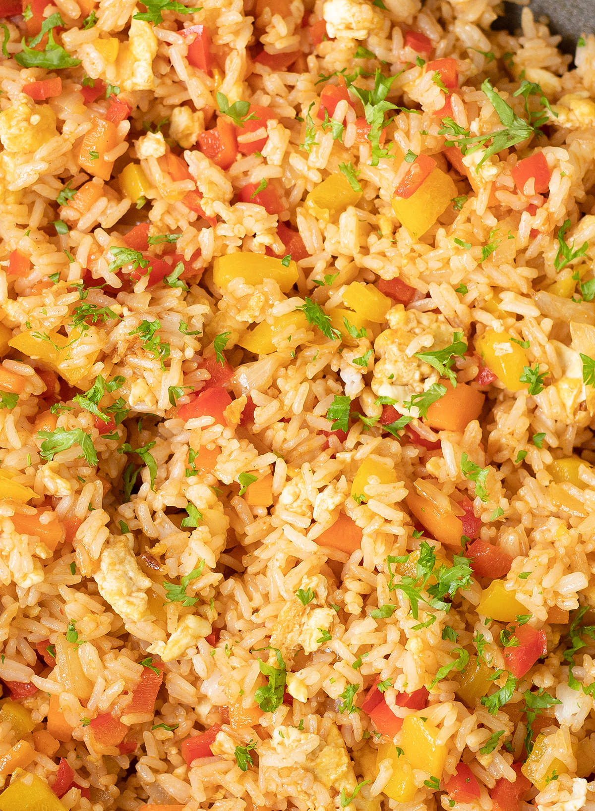 Chinese style egg and vegetable fried rice