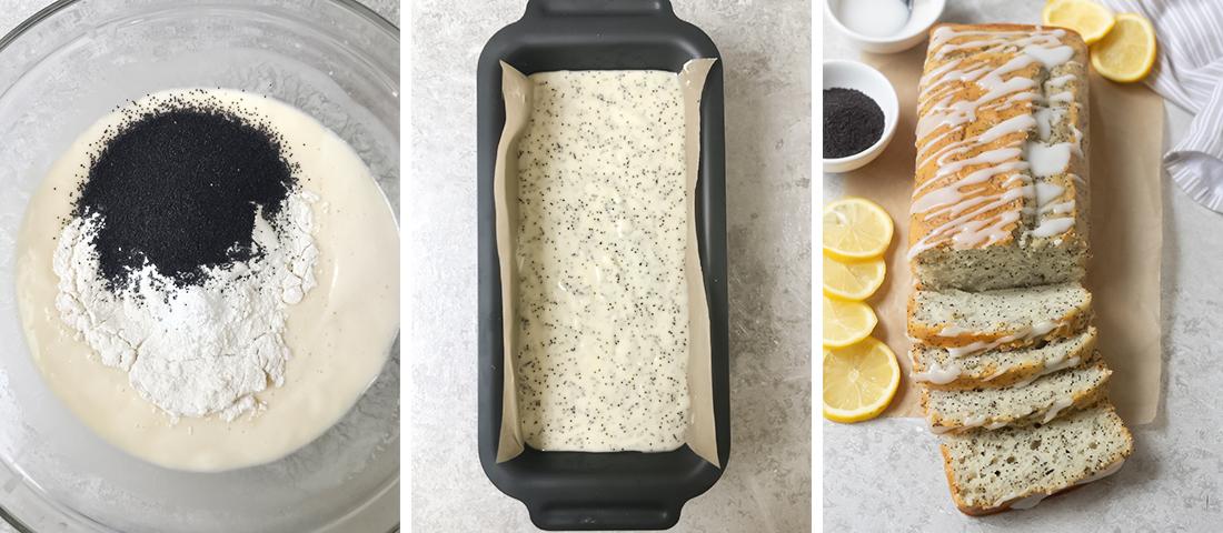 Stir in the flour, baking powder and salt.