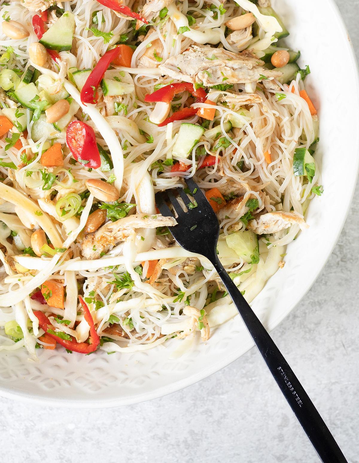 Vietnamese Chicken Noodle Salad – A fresh, delicious and healthy salad
