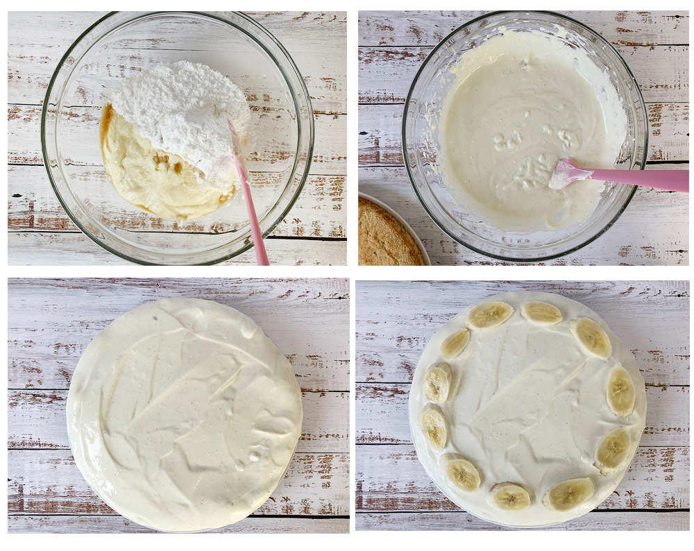 Making the cream cheese frosting