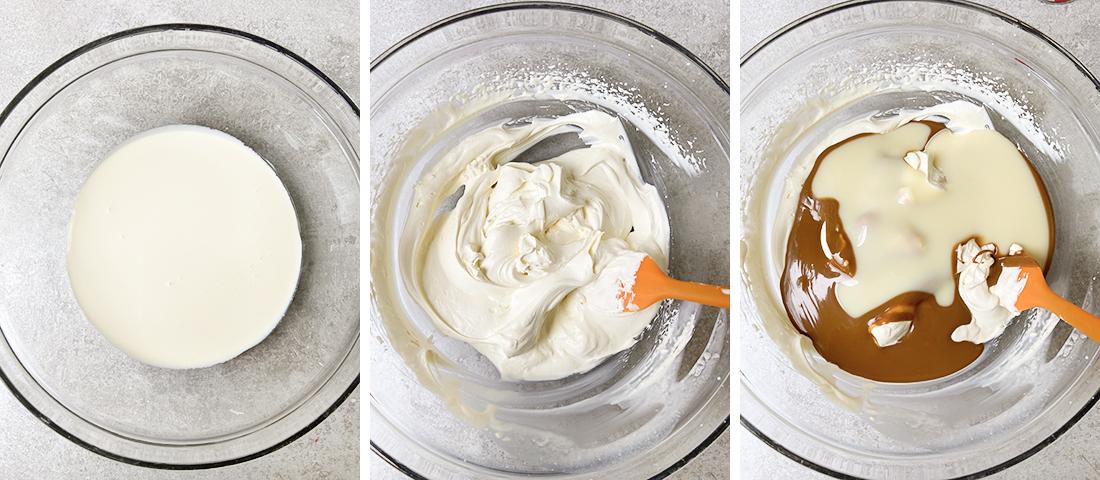 Add the condensed milk.