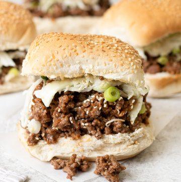 Asian Sloppy Joe Sandwich