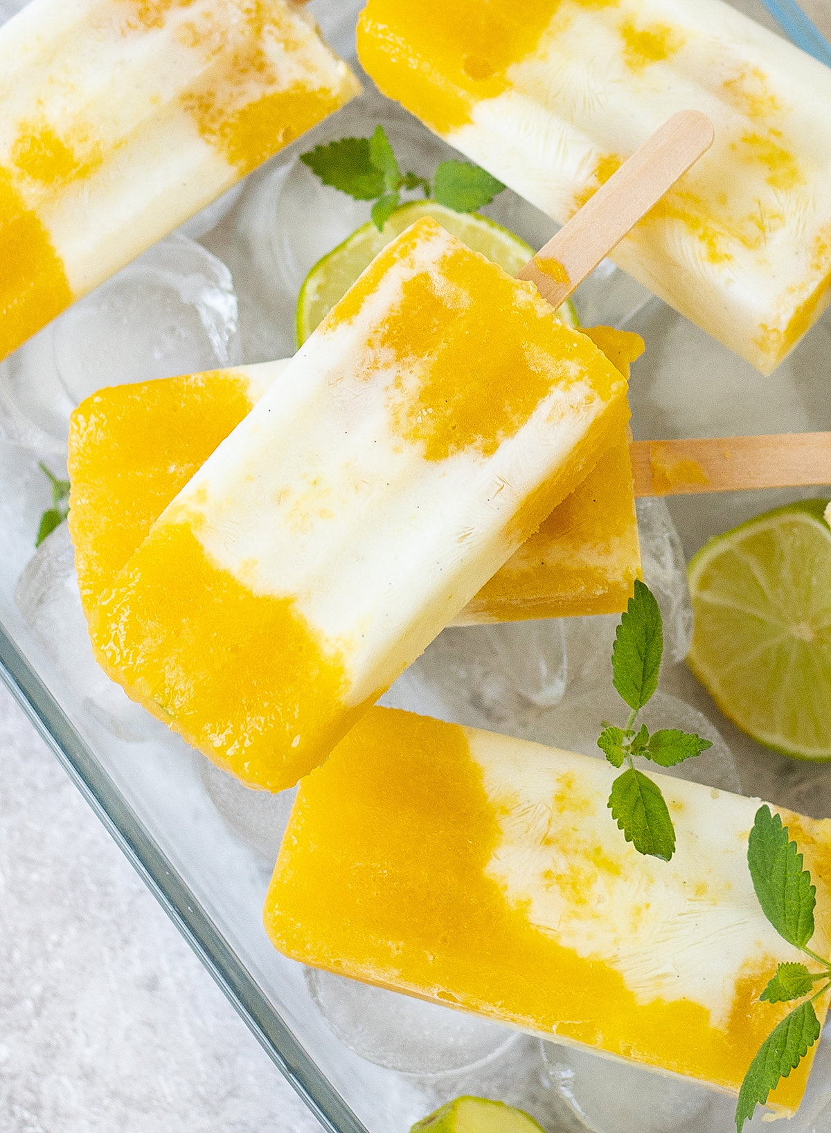 Mango, Lime, and Coconut Popsicles Recipe