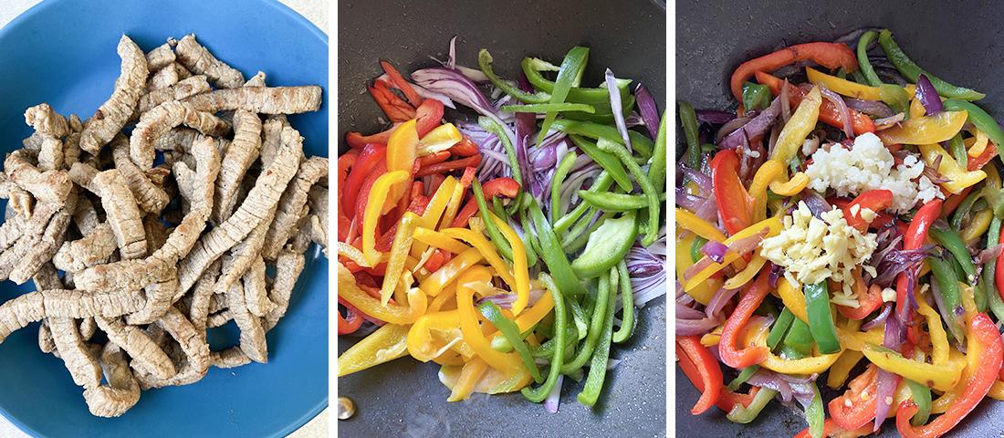 Fry the veggies