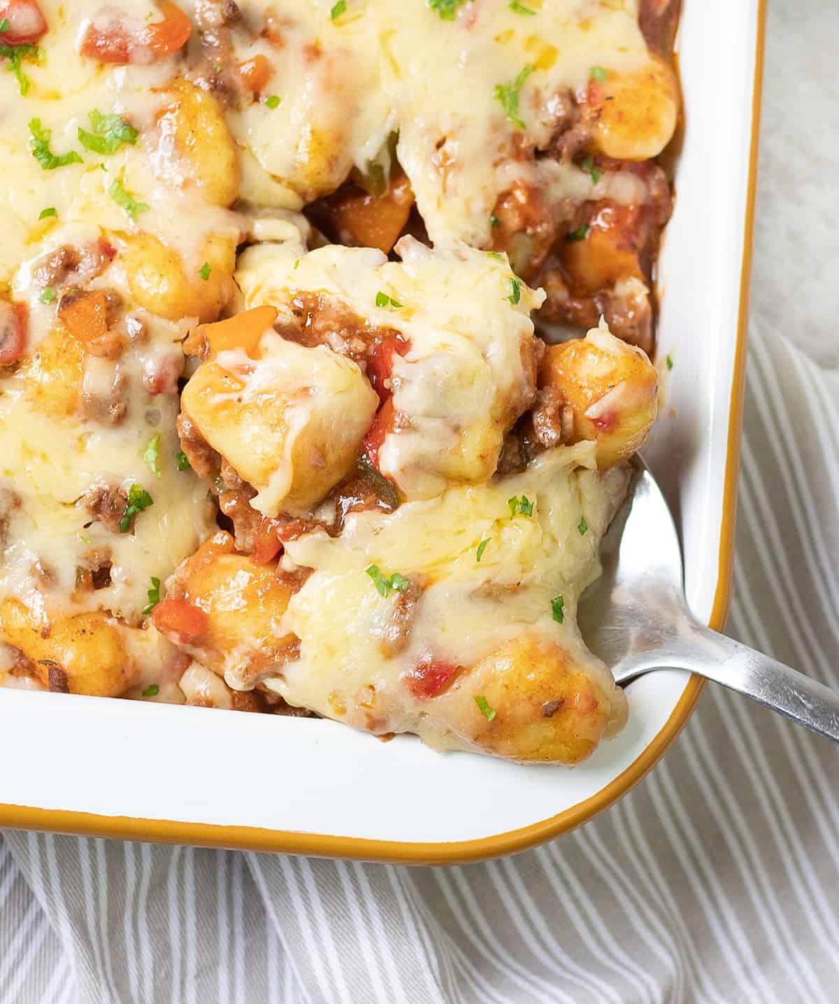 Cheesy Gnocchi Bake