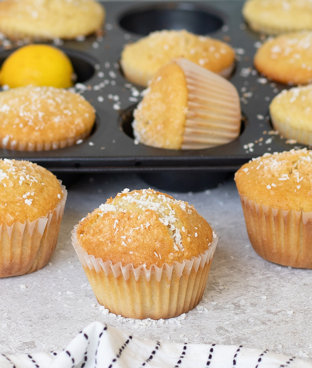 lots of Lemon Coconut Muffins