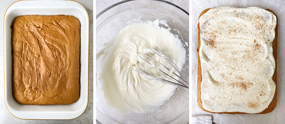 Preparing the cream cheese frosting