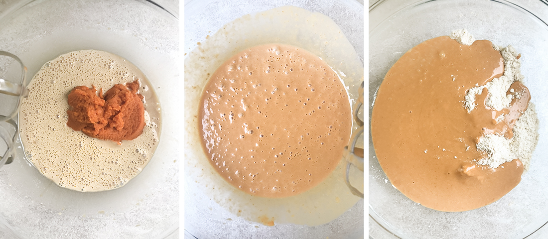 Add butter to the flour mixture