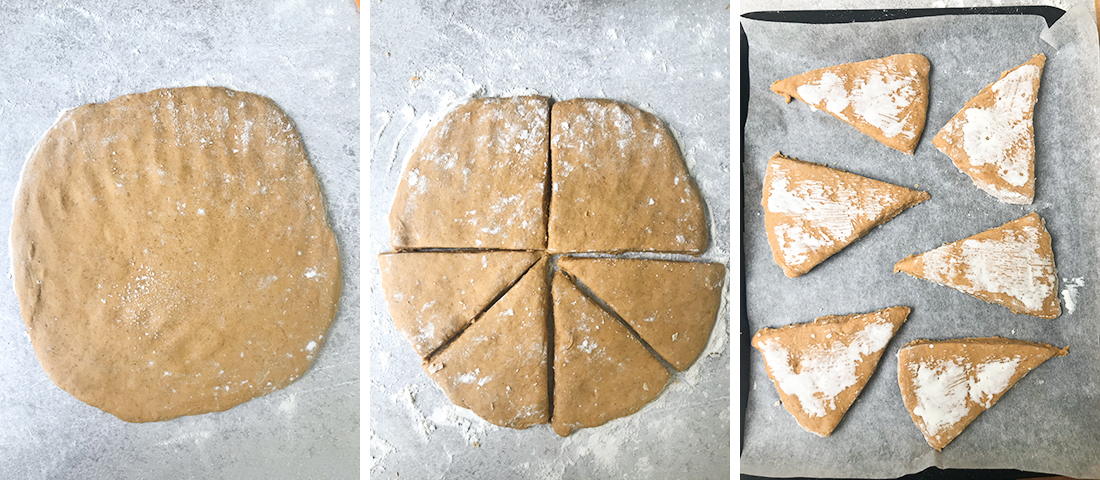 work the dough into a ball as best as you can.