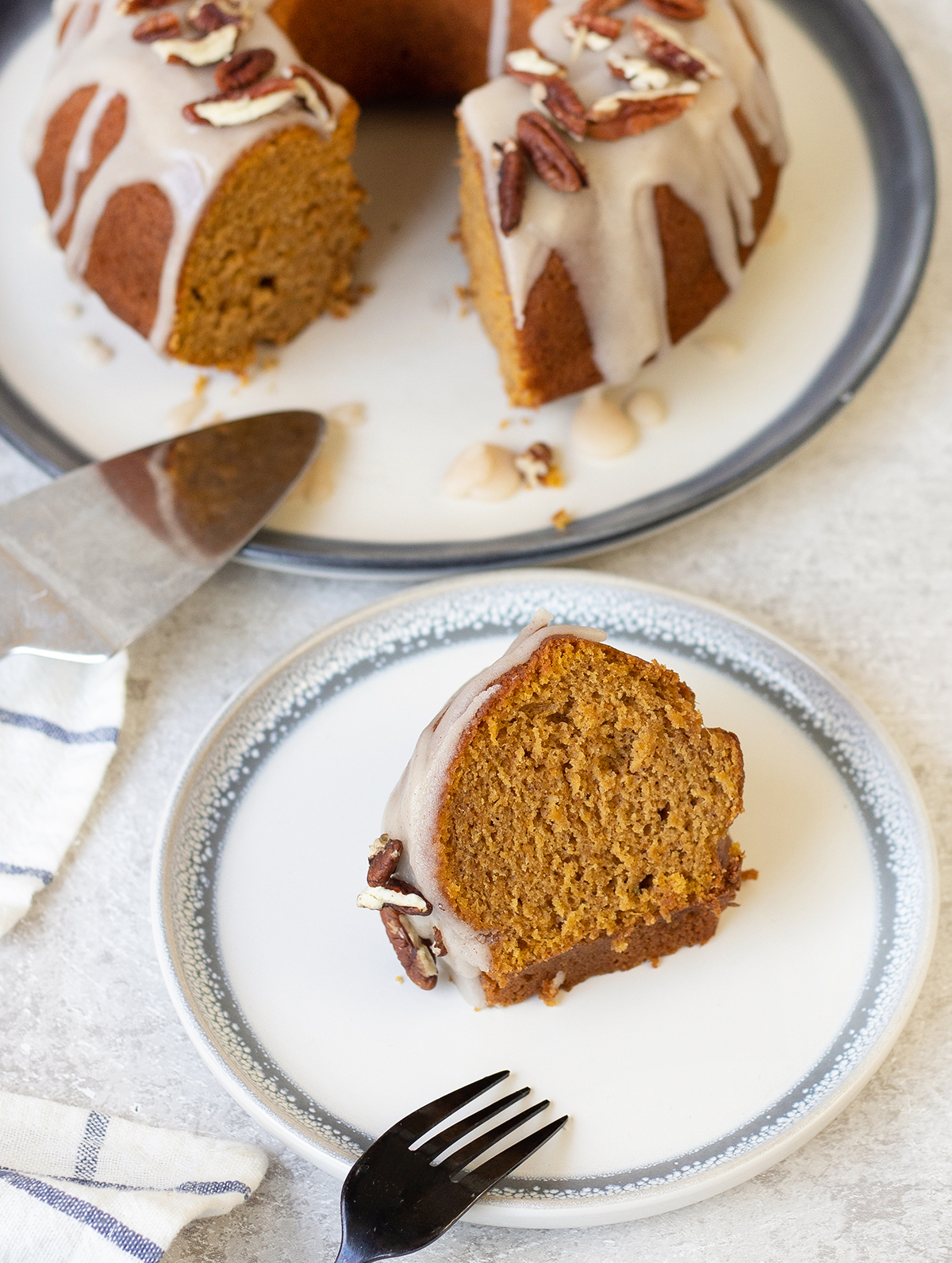 A slice of Sweet Potato Cake